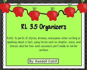 Parts of a Story Drama Poem Organizer RL.3.5
