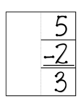 Parts of a Subtraction Problem FOLDABLE. Math Interactive Notebook