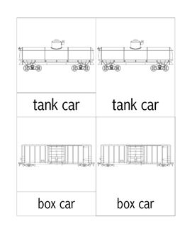Parts of a Train 3-Part Cards