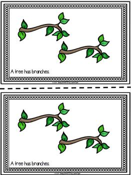 Parts of a Tree Emergent Reader Book AND Interactive Activities