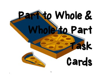 Parts of a Whole Fraction Task Cards