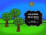 Parts of a tree - Las partes de un arbol activity in Spanish and English