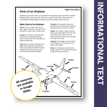 Parts of an Airplane Lesson Plan