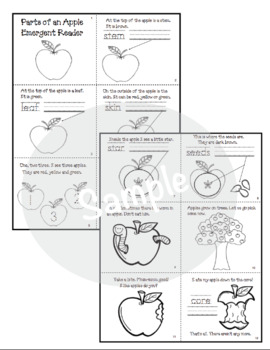 Apple Activities: Parts of an Apple Emergent Reader Packet