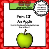 Parts of an Apple Emergent Reader Book AND Interactive Activities