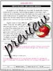 Parts of an Apple • Reading Comprehension Passages and Questions • RL I