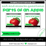 Parts of an Apple • Reading Comprehension Passages and Questions • RL I & II