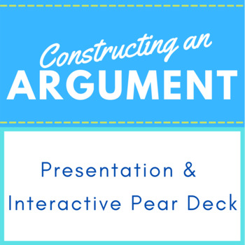 Parts of an Argument PowerPoint Presentation for High School