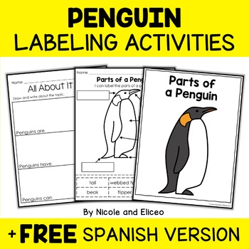 Vocabulary Activity - Parts of an Emperor Penguin