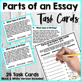 Parts of an Essay Task Cards: Introduction, Body Paragraph, and Conclusion