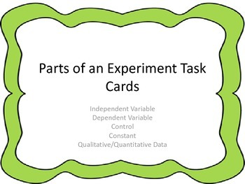 Parts of an Experiment Task Cards