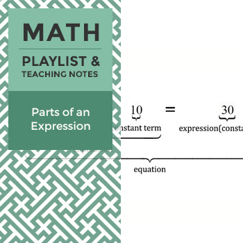Parts of an Expression - Playlist and Teaching Notes