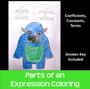 Parts of an Expression Color by Answer