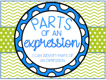 Parts of an Expressions Lesson Bundle