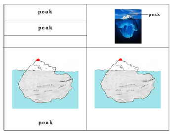 Parts of an Iceberg Three Part Cards