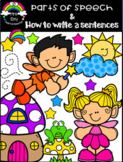Parts of speech & How to write a sentence worksheets