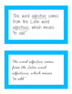 Parts of speech cards (ideal for Montessori grammar boxes)