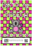 Parts of speech - concentration - card game
