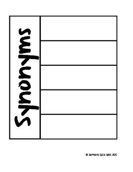 Parts of speech flipbooks