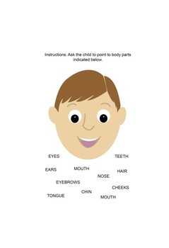 Parts of the Body Activity Workbook