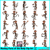 Parts of the Body Clip Art for Teachers - Funny Monkey 26