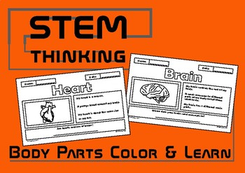 Parts of the Body Color and Learn Elementary Science Activities