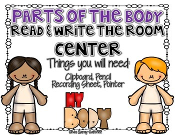 Parts of the Body Read and Write the Room Center