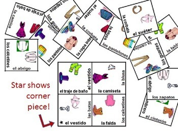 Spanish Body Parts Vocabulary Puzzle