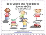 Parts of the Body and Face Posters and Worksheets