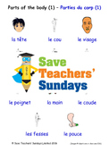 Parts of the Body in French Worksheets, Games, Activities and Flash Cards (1)