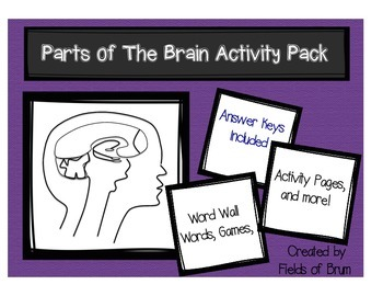 Parts of the Brain Activity Pack