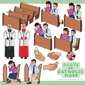 Parts of the Catholic Mass Clip Art Set