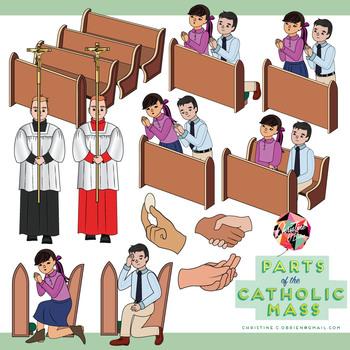 parts of the catholic mass clip art set by christine o brien creative rh teacherspayteachers com family masks clipart mess clipart