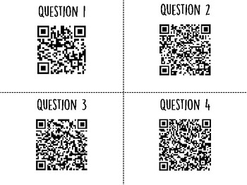 Parts of the Cell QR Code Hunt (Content Review or Notebook Quiz)