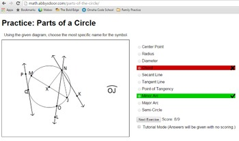 Parts of the Circle Complete Lesson