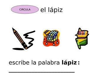 Parts of the Classroom (Spanish)