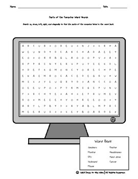 Parts of the Computer Word Search