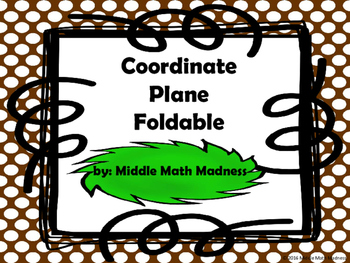 Parts of the Coordinate Plane Foldable