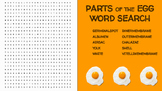 Parts of the Egg Word Search; FACS, Culinary Arts, Bellringer, Eggs