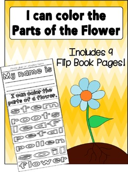 Parts of the Flower Flip Book