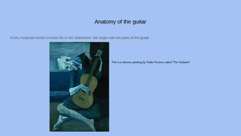 Parts of the Guitar Lesson and Powerpoint