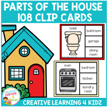 Parts of the House Clip Cards