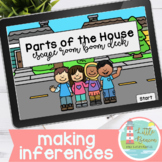 Parts of the House Escape Room Boom Cards™ | Making Inferences