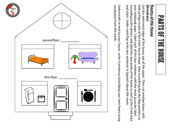 Parts of the House Interactive Notebook Page