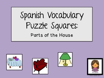 Parts of the House Spanish Vocabulary Puzzle
