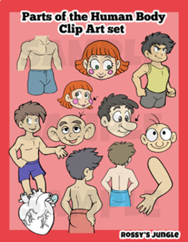 Parts of the Human Body Clip Art Set
