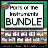 Parts of the Instruments- Interactive BOOM card Bundle for