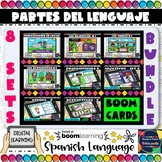 Parts of the Language in Spanish - Boom Cards Bundle - 8 S