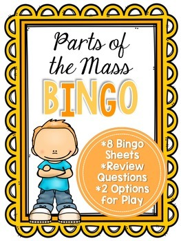 Parts of the Mass Bingo