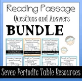 Parts of the Periodic Table Worksheet Activity Bundle